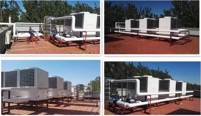 """新型节能技术:""""空气源热泵+无水地暖+冷暖空调"""""""